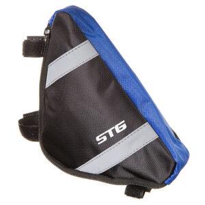 Велосумка под раму STG 12490 треугольная р-р L/M чёрно-серая