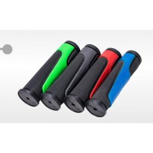 Грипсы KMS черные, с цветными вставками 120 мм