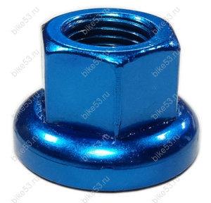 Гайка M9x1.0 Cr-Mo для передн.втулки, синяя, шт.