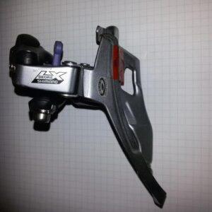 Переключатель передний Shimano LX FD-M571-G верхний хомут верхняя тяга 28,6мм, угол перьев:63-66,