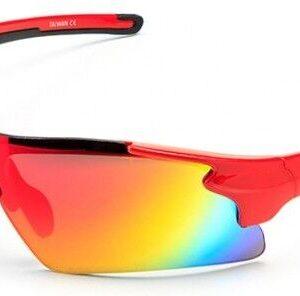 Очки 2K S-14058-B зеркальные, красная оправа
