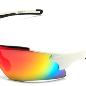 Очки 2K S-14058-B зеркальные, белая оправа