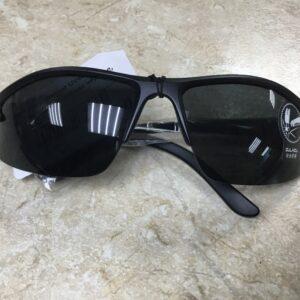 Очки спортивные UV400, оправа черная, стёкла чёрные, мод.940