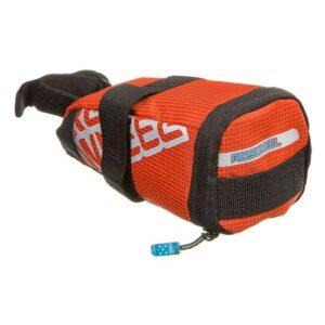 Велосумка под седло ROSWHEEL 13567 оранжевая, гермо, на липуч., с выдвижным  жестким отсеком