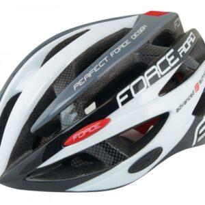 Шлем FORCE ROAD, S/M, бело-серый