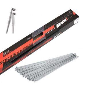 Спица фирм. 256мм MACH1 GALVA 2мм, сталь, серебристая