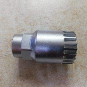 Съемник каретки-картр. STG для Shimano под ключ и квадрат, хром